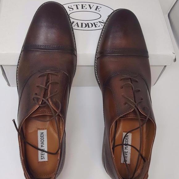 2b8c01eb4a4 Steve Madden Men's Finnch Cognac Leather, 10.5 US